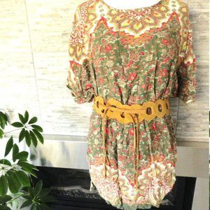 3/$30 Boho Angie Mini Dress paisley floral